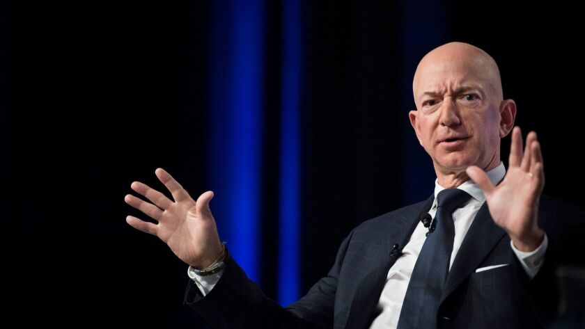 Not so happy with New York: Amazon founder, Chairman and CEO Jeff Bezos.