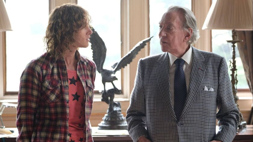 """""""Trust,"""" FX's new series about the Getty family, stars Harris Dickinson as J. Paul Getty III and Donald Sutherland as his oil tycoon grandfather, J. Paul Getty."""