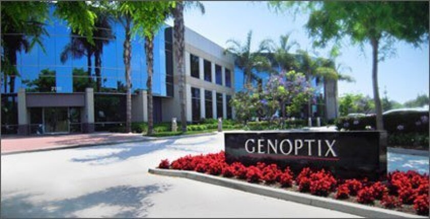 Genoptix's headquarters in Carlsbad.
