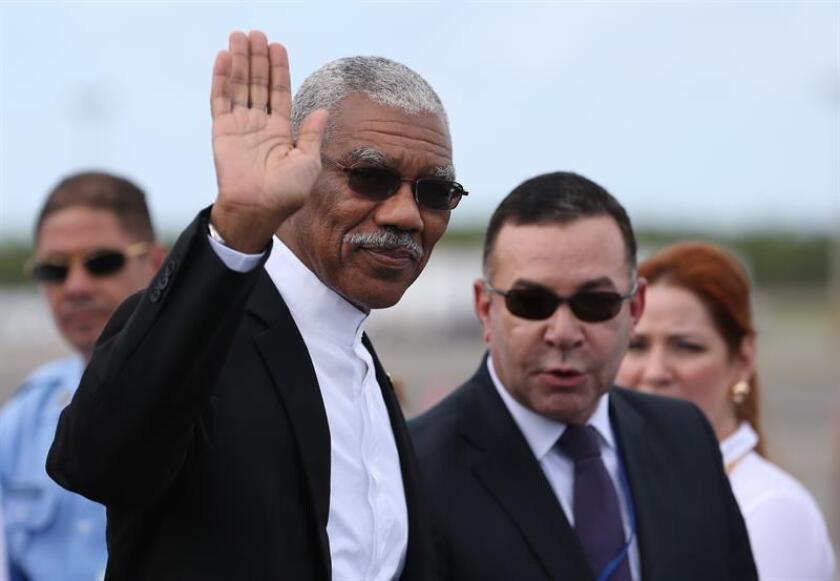 El presidente de Guyana, David Granger. EFE/Archivo