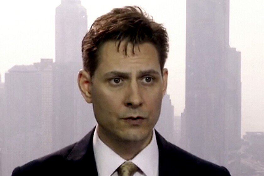 FILE - In this file image made from March 28, 2018, video, Michael Kovrig, an adviser with the International Crisis Group, a Brussels-based non-governmental organization, speaks during an interview in Hong Kong. China's Foreign Ministry said Thursday, Dec. 10, 2020 that two Canadians, including Kovrig, held for two years in a case linked to a Huawei executive have been indicted and put on trial, but gave no details. (AP Photo, File)