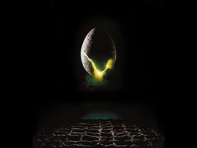 "This foreboding image graced the poster for the original ""Alien"" film when it 