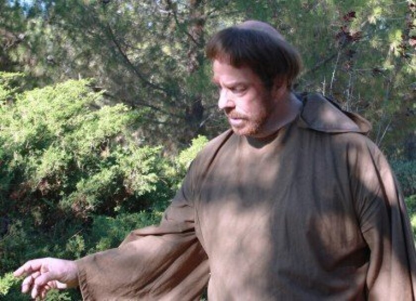 East County resident Mark Price performs  as St. Francis of Assisi. Courtesy