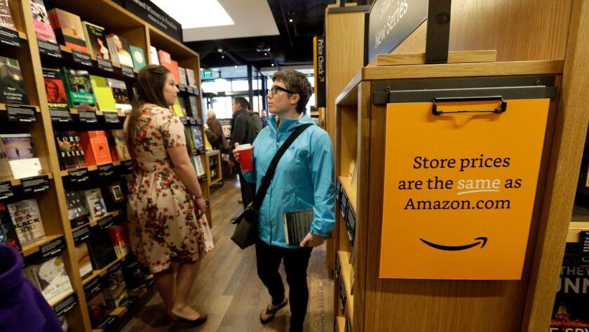 Amazon Books in Seattle.