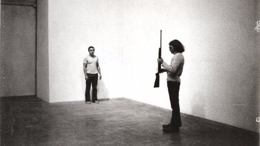 "The documentary ""Burden"" examines some of Chris Burden's most iconic works, including ""Shoot,"" from"
