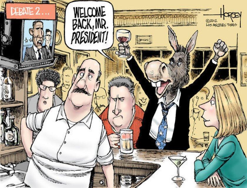 Barack Obama takes command in second presidential debate