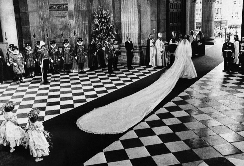 see princess diana s wedding gown in the crown teaser los angeles times wedding gown in the crown teaser