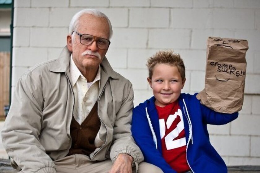 """A scene from Johnny Knoxville's """"Bad Grandpa,"""" in contention for a hair and makeup Oscar."""