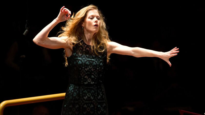"Barbara Hannigan in Rome's Auditorium Parco della Musica performing ""Mysteries of the Macabre"" on Fe"