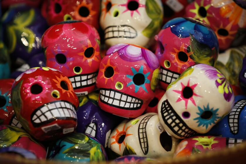 Day of the Dead ceramic skulls are on display at Artelexia in North Park just days before the annual celebration.