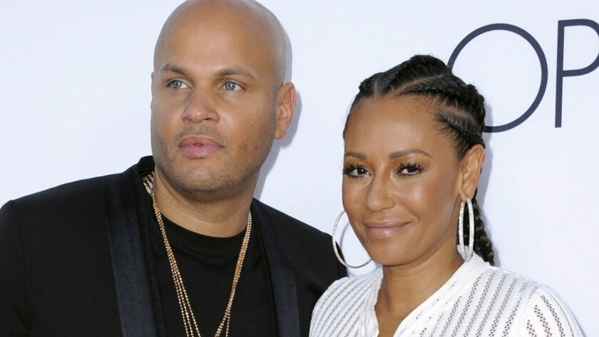"Former couple Stephen Belafonte and Melanie ""Mel B"" Brown, seen at the premiere of ""Mother's Day"" in Los Angeles in 2016, have sold their marital home in the Hollywood Hills for $5.55 million."
