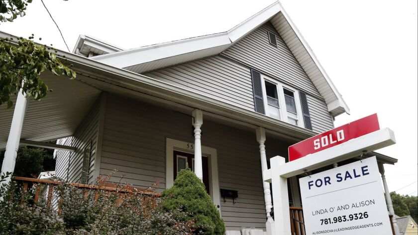 A home that has been sold in Melrose, Mass. According to the latest data released Thursday by Freddie Mac, the 30-year fixed-rate average slipped to 4.51