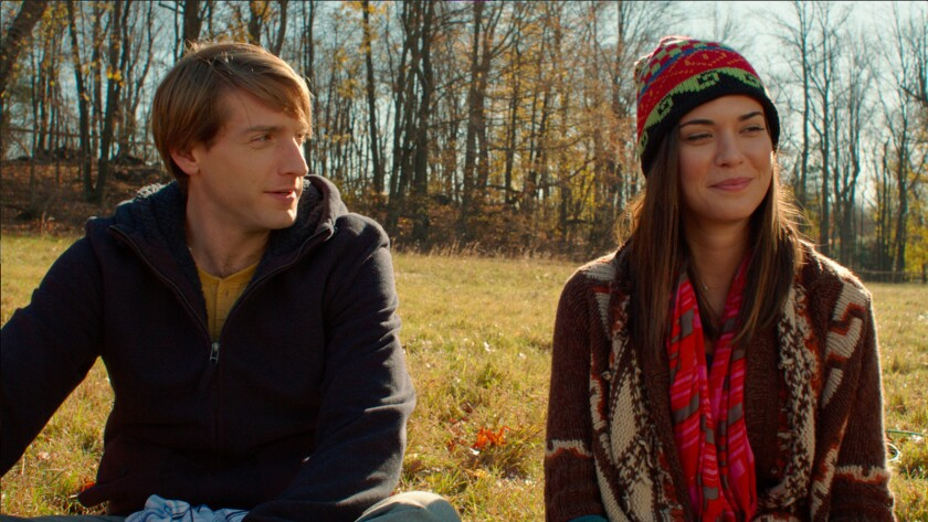 """Fran Kranz, left, is Gilby, who's interested in the married Rachel, played by Odette Annable, in """"The Truth About Lies."""""""