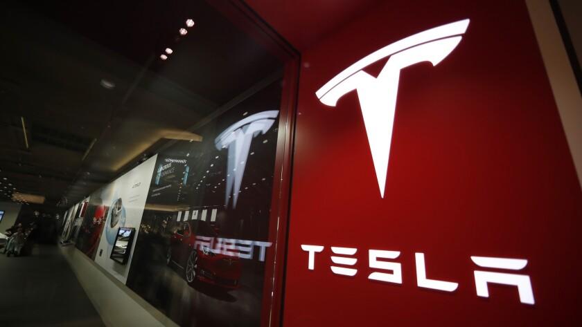 A Tesla store in Denver.