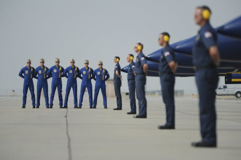 Navy photo of Blue Angels pilots.