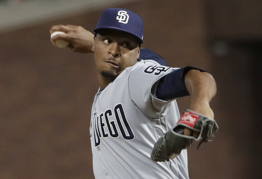 Luis Perdomo is back with the Padres, throwing well out of the bullpen.