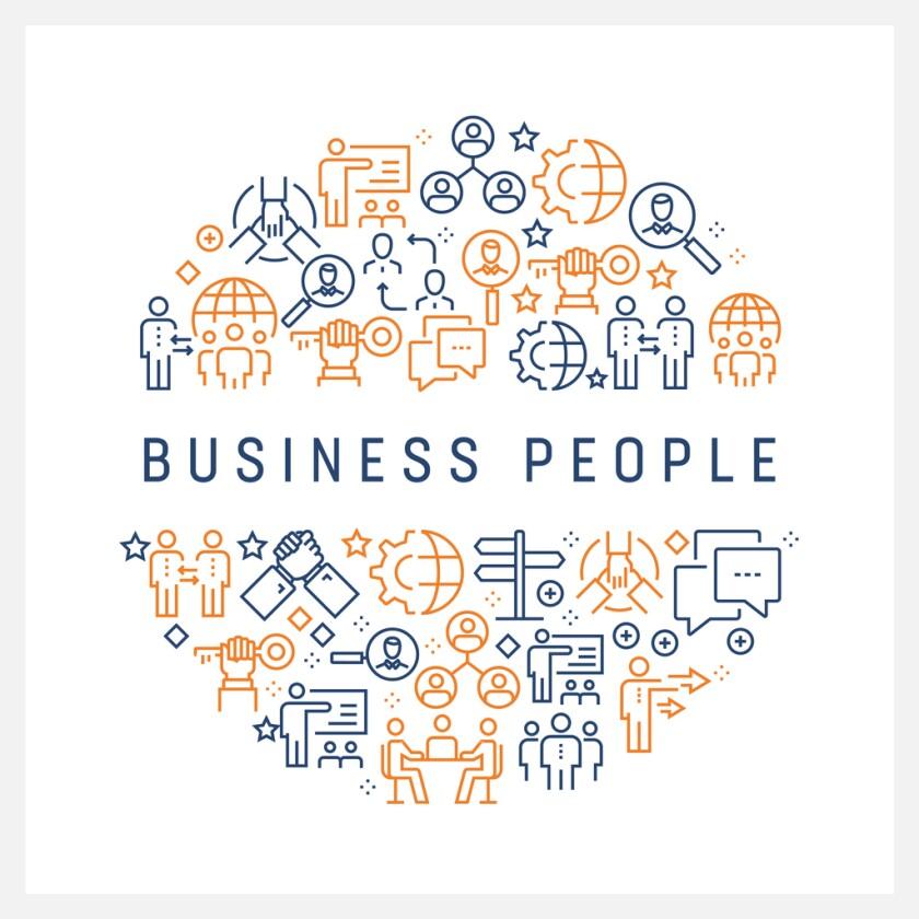 Business people illustration.