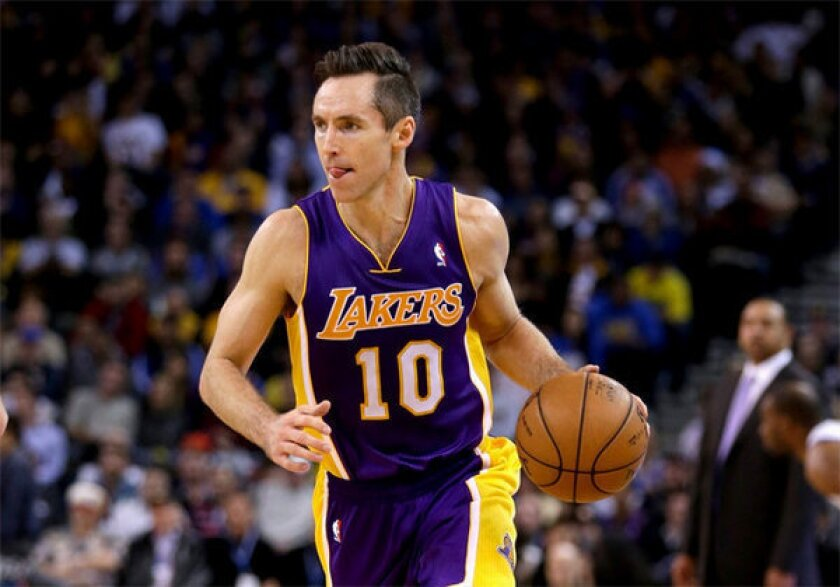 Steve Nash recorded his 10,000th assist on Tuesday against the Rockets.