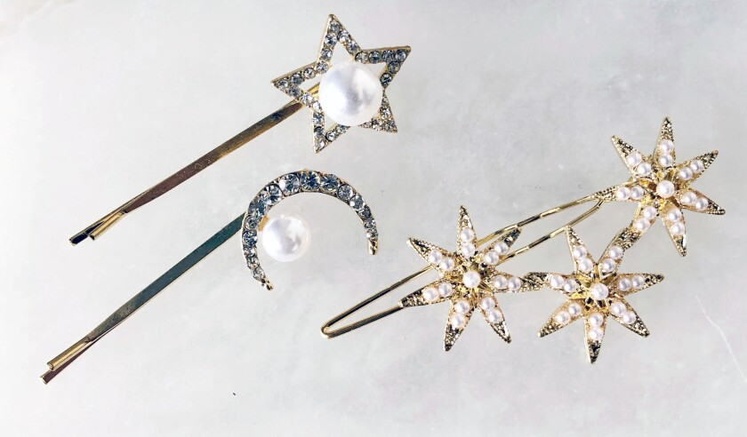 Jeweled hair clips