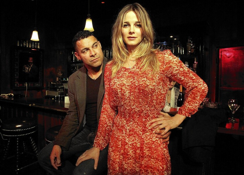 """Bojana Novakovic plays a woman waiting for a date, played by guest actor Jon Huertas, in """"The Blind Date Project."""""""