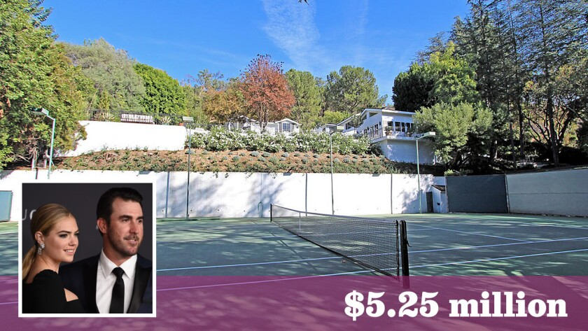 Cover girl Kate Upton and Detroit Tigers pitcher Justin Verlander have paid $5.25 million for a home in Beverly Crest.