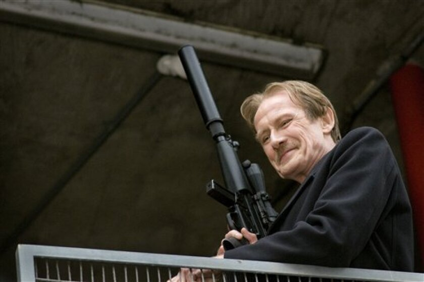 """In this film publicity image released by Freestyle Releasing, Bill Nighy is shown in a scene from, """"Wild Target."""" (AP Photo/Freestyle Releasing, Nick Wall Photography)"""