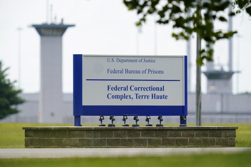 el complejo federal de correccionales en Terre Haute, Indiana.