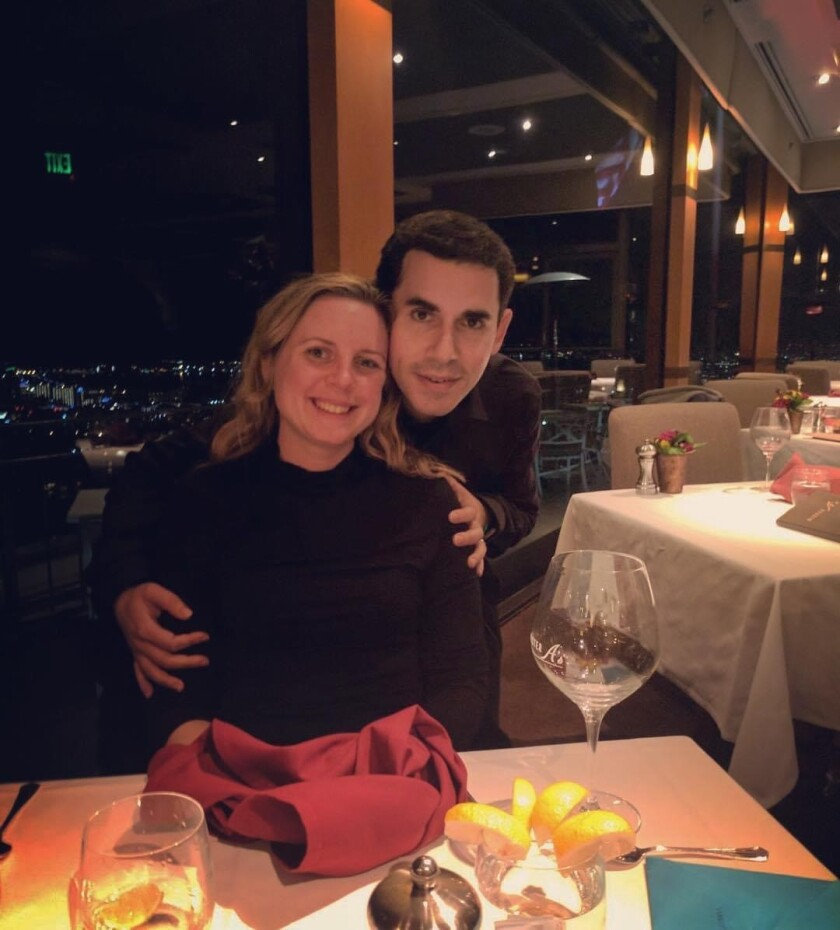 Andy Friedman is pictured with his wife, Kristen Keerma Friedman.