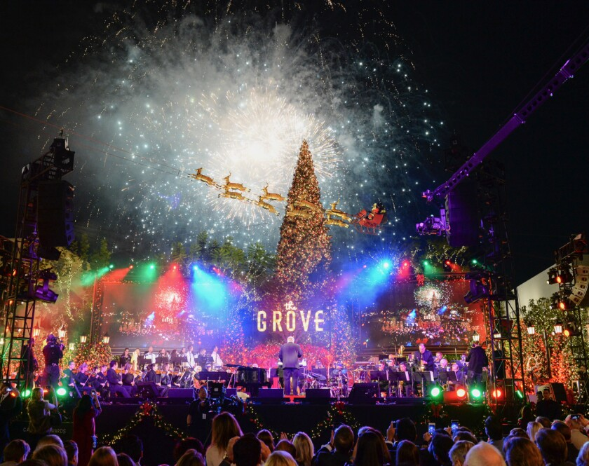The Grove Christmas Tree Lighting 2020 Fun 2019 holiday retail events in L.A. and Orange County   Los
