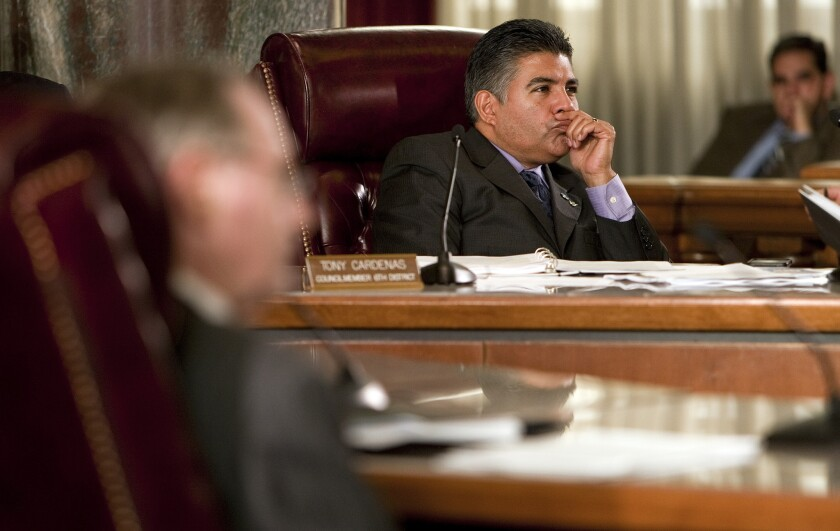 Council member Tony Cardenas at Los Angeles City Hall in 2011, before he was elected to the U.S. House.