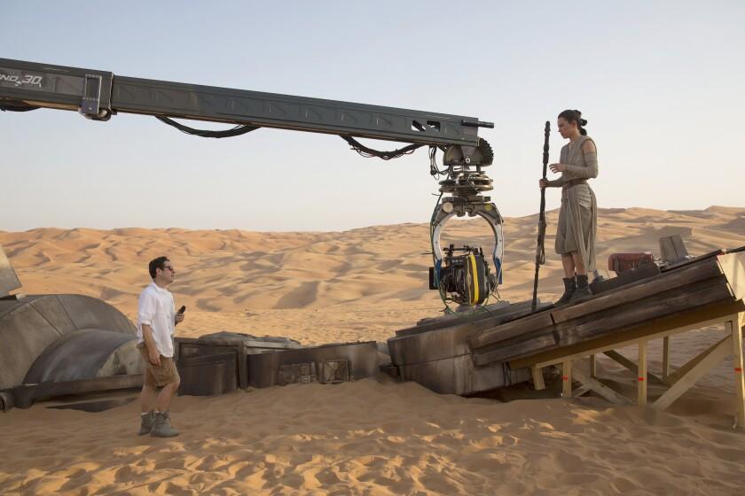 'Star Wars' on set