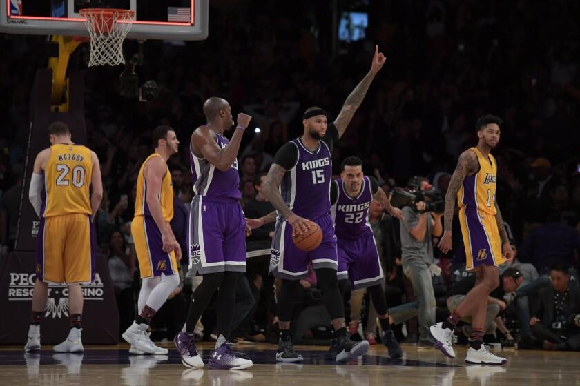 DeMarcus Cousins da lección a Lakers y los Kings ganan en Staples Center.