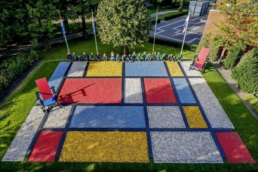 Dutch painter Piet Mondrian is the inspiration for the current bulb planting at the famed Keukenhof gardens near Amsterdam. Next year, the gardens will be open March 23 to May 21.