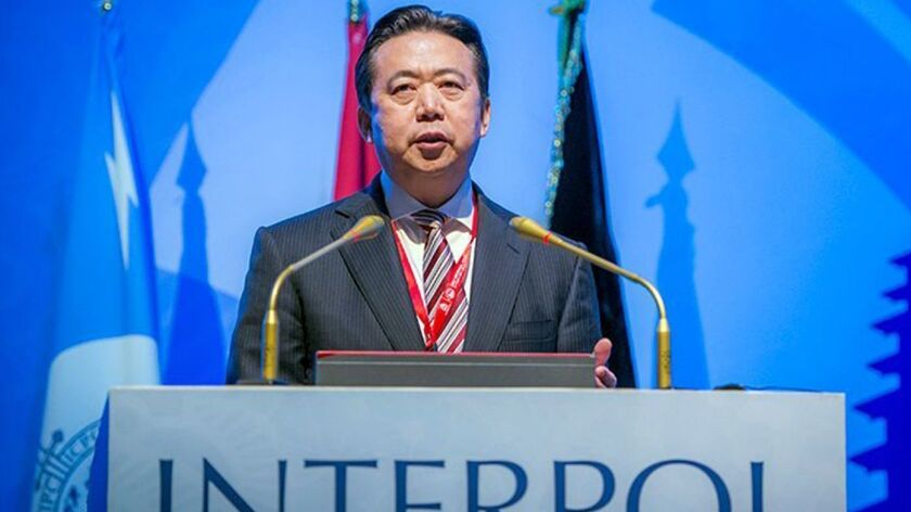 INTERPOL has received the resignation of Mr Meng Hongwei as President, Bali, Indonesia - 10 Nov 2016