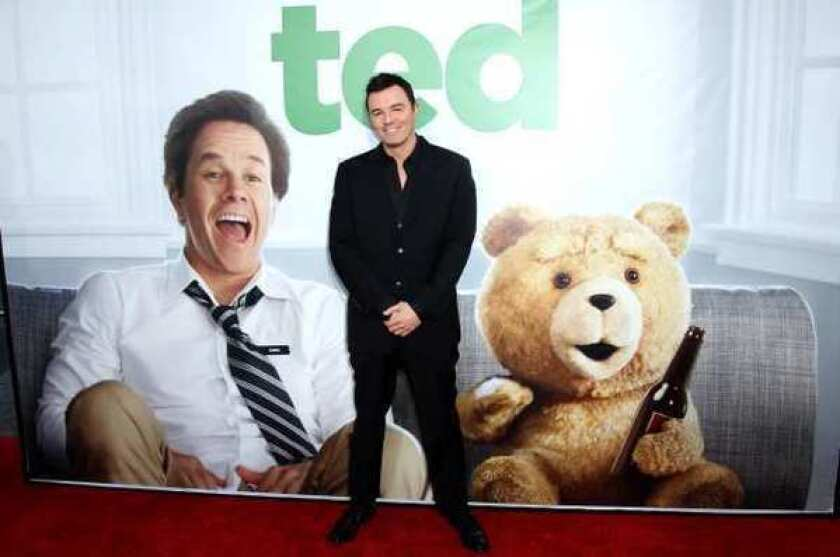 """""""Ted"""" filmmaker Seth MacFarlane at the June 21 premiere of the movie in Los Angeles."""