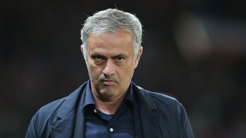 FILE Jose Mourinho, Manchester, United Kingdom - 02 Oct 2018