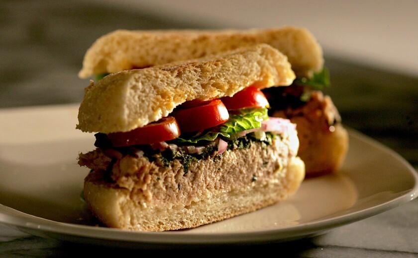 Great flavor, and simple to prepare. Recipe: Italian tuna and shiso sandwich