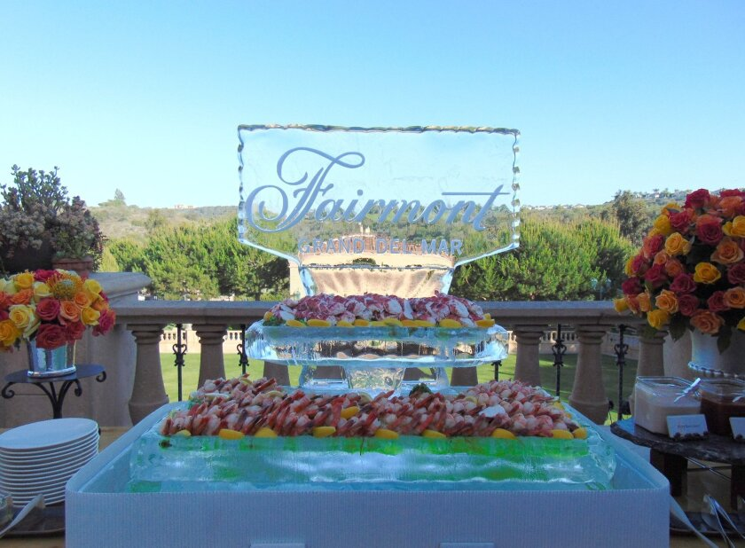 Seafood bar at the Fairmont Grand Del Mar patio. Photos by Diane Y. Welch