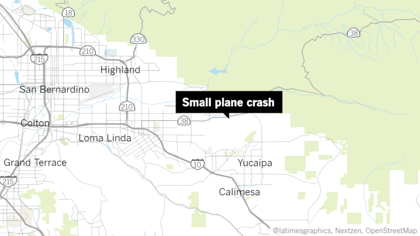 Plane crash near Redlands.
