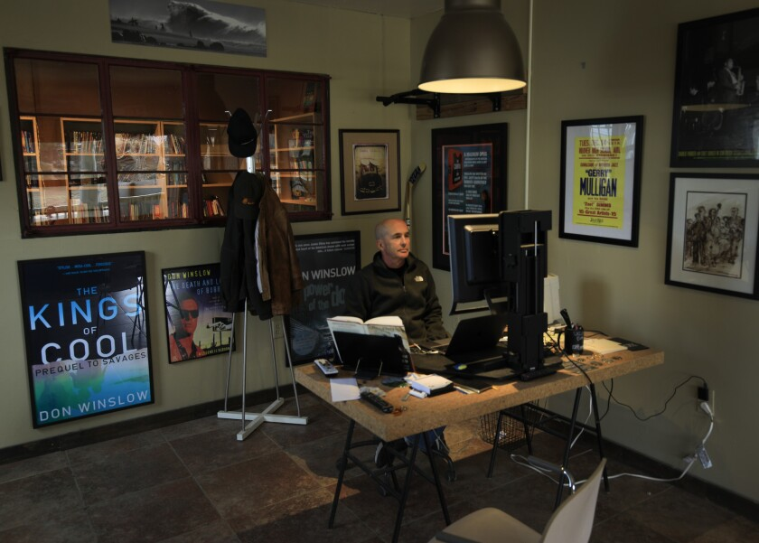 JULIAN, CA., FEB 1, 2019: Thriller/crime novelist Don Winslow at work in his office. Winslow?s new b