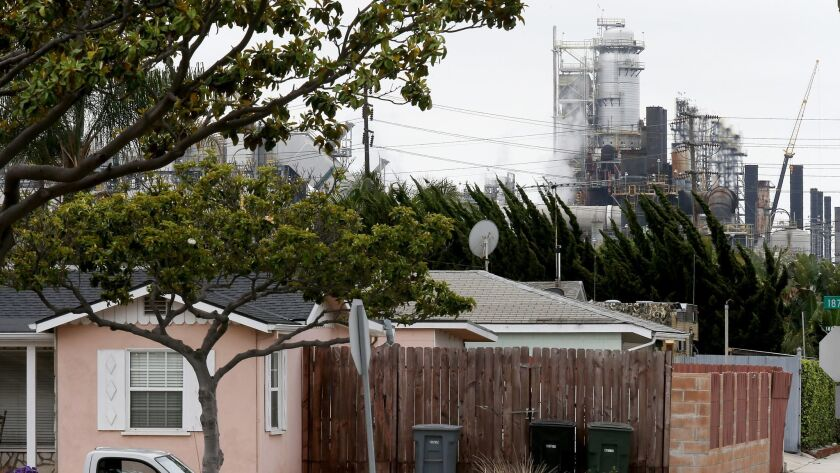 TORRANCE, CALIF. - MAY 10, 2016. A portion of the Exxon Mobil refinery in Torrance was restarted Tu