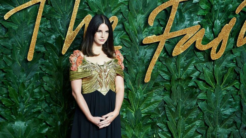L.A. singer Lana Del Rey arrives for the Fashion Awards in London in December.