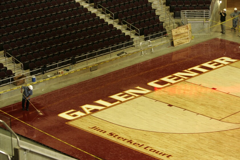 Jim Sterkel Court at USC's Galen Center.