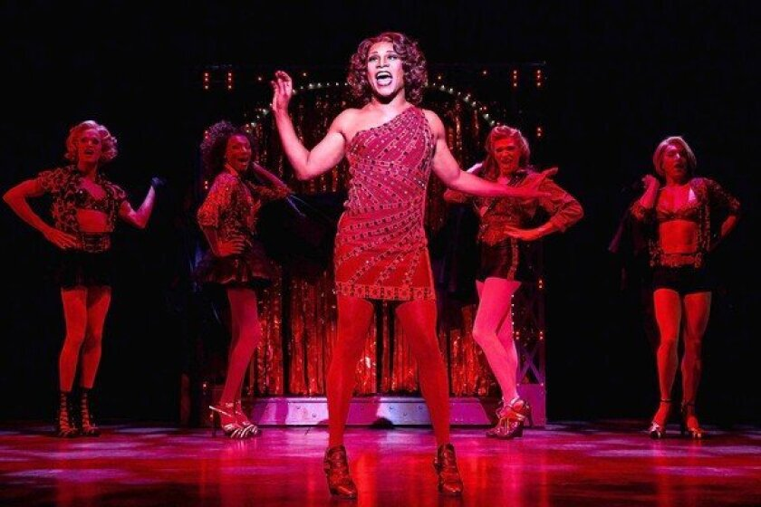 """Billy Porter, center, in the Cyndi Lauper-scored """"Kinky Boots."""""""