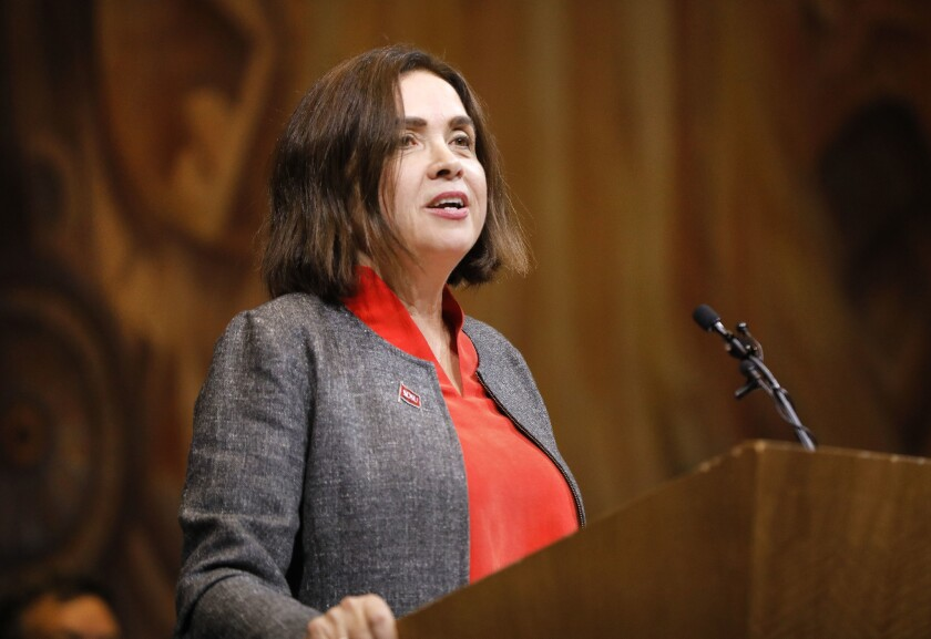 SAN DIEGO, CA: FEBRUARY 8, 2018: Adela de la Torre, the new president of San Diego State University