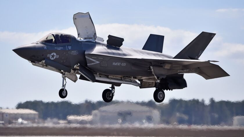 FILE: F-35 U.S. Military Plane Crashes In South Carolina The F-35 Lightning II Is Put Through Its Paces At MCAS Beaufort