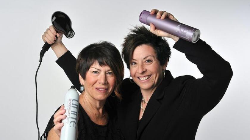 Phyllis Strauss (owner) and Randi Hosking (stylist/owner) of Indigo Salon & Spa. (Rick Nocon)