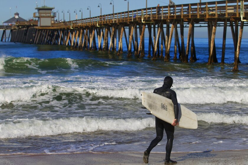 Surfer in Imperial Beach