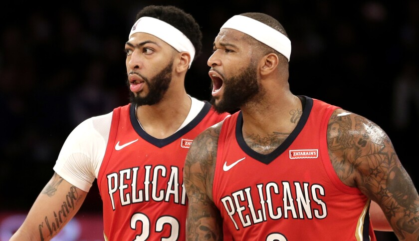 Former teammates Anthony Davis and DeMarcus Cousins will have to wait to reunite with the Lakers.