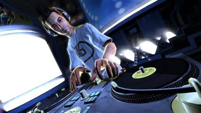 "FILE - In this file video game image released by Activision, an animated version of the late DJ-AM is shown in the video game, ""DJ Hero."" (AP Photo/Activision, file)"